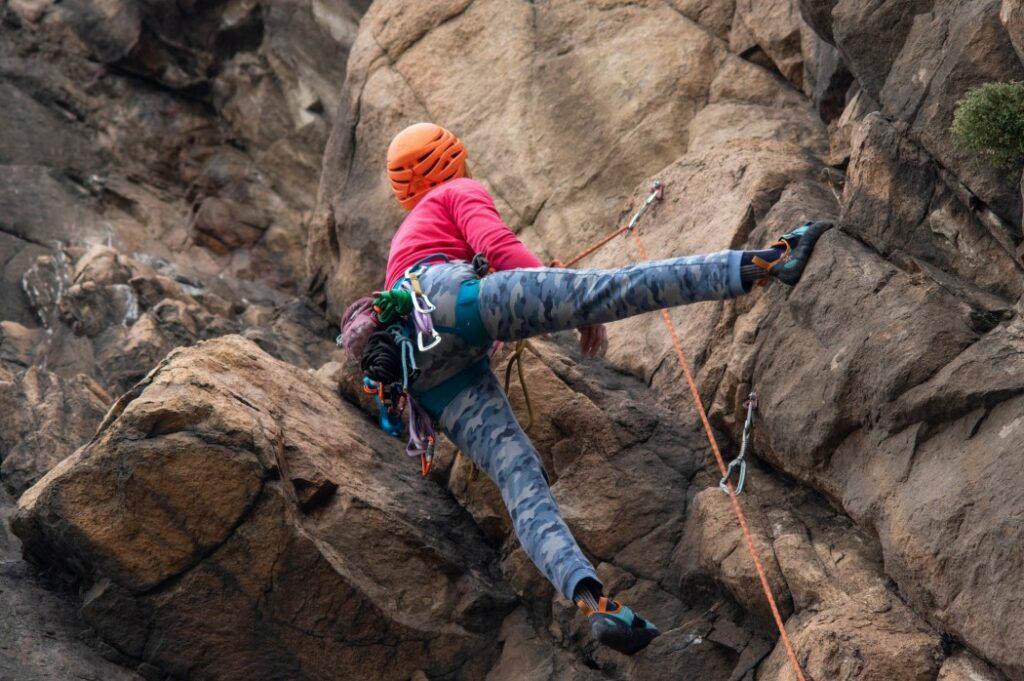 une alpiniste